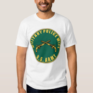 MP Army Wife Design T Shirt
