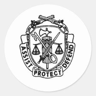 military police stickers zazzle 11th Airborne mp crest classic round sticker