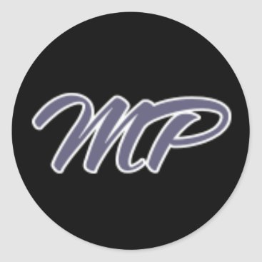 Mp Purp Classic Round Sticker