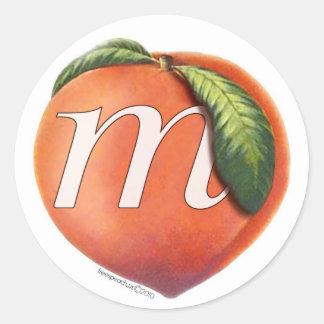 mPeach_decal-2010 Classic Round Sticker