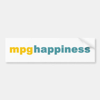 MPG Happiness Bumper Sticker