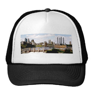 mpls panorama posterized trucker hat