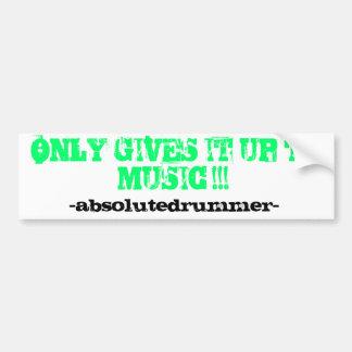 "MPM/ABD- ""Only to the music"" NEON GREEN BUMPER Bumper Sticker"