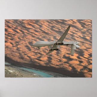 MQ-1 Predator unmanned aircraft drone Print