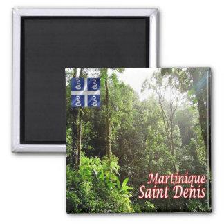 MQ - Martinique - St. Denis - Rainforest 2 Inch Square Magnet