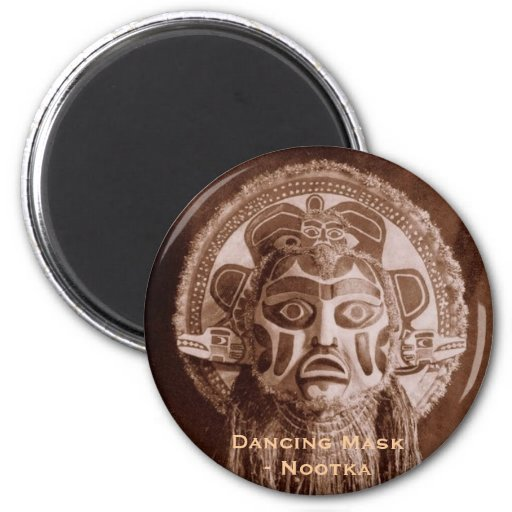 MR513, Dancing Mask- Nootka Fridge Magnets