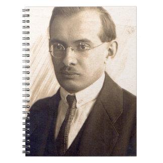 Mr. 1920s Scientist Spiral Note Books