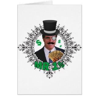Mr 1% greeting card