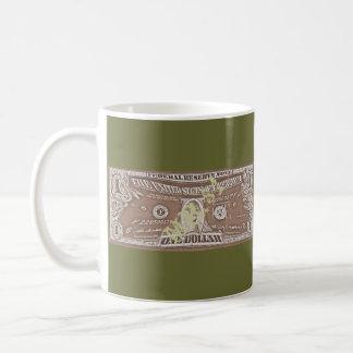 Mr.$1 Classic White Coffee Mug