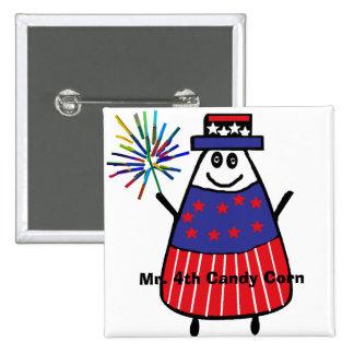 Mr. 4th Candy Corn Pinback Button