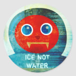 """Mr. Abominable Says, """"My Ice is Melting Up Here!"""" Stickers"""