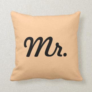 Mr. Almohada de pareja Cojín Decorativo