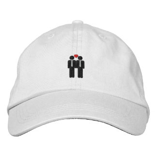 Mr and Mr Gay Pride Love Heart Embroidered Baseball Hat