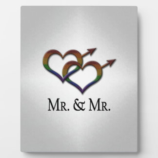Mr. and Mr. Gay Pride Plaque