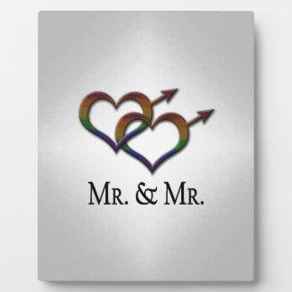 Mr. and Mr. Gay Pride Plaque