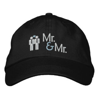 Mr and Mr Gay Wedding Baseball Cap