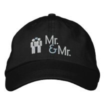 Mr and Mr Gay Wedding Embroidered Baseball Cap