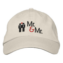 Mr and Mr Gay Wedding Embroidered Baseball Hat
