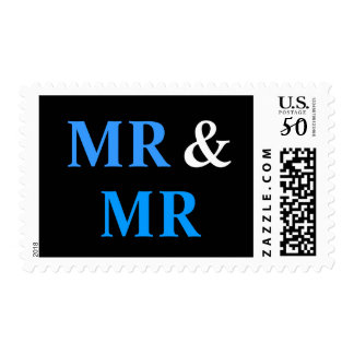 Mr and Mr Gay Wedding Marriage Postage