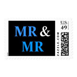 Mr and Mr Gay Wedding Marriage Postage Stamp