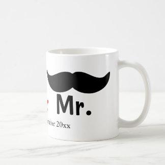 Mr And Mr Mustache Gay Wedding Customizable Coffee Mug