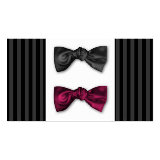 Mr and Mr. Pin Striped Place Card Business Card