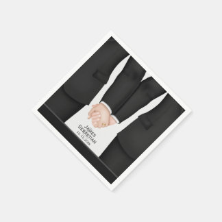 Mr and Mr suit Gay Wedding Disposable Napkin