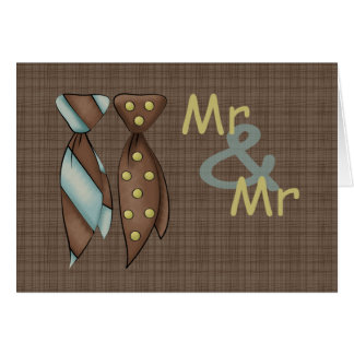 Mr and Mr, Two Grooms Wedding Card