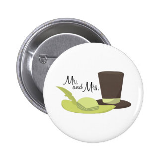 Mr And Mrs 2 Inch Round Button