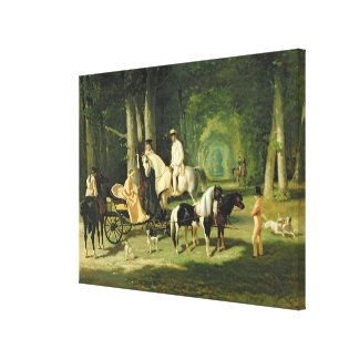 Mr. and Mrs. A Mosselman and their Two Canvas Print