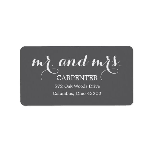 Mr. and Mrs. Address Labels Labels
