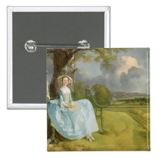 Mr and Mrs Andrews, c.1748-9 2 Inch Square Button