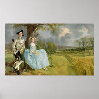 Mr and Mrs Andrews, c.1748-9 Print