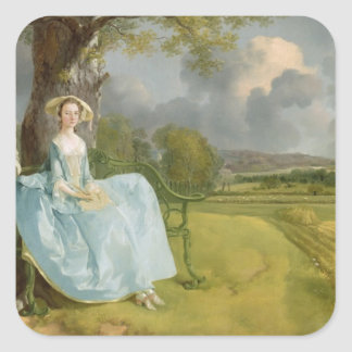 Mr and Mrs Andrews, c.1748-9 Square Sticker