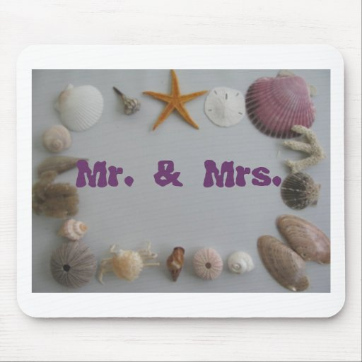 Mr and Mrs Beach Wedding Mouse Pad