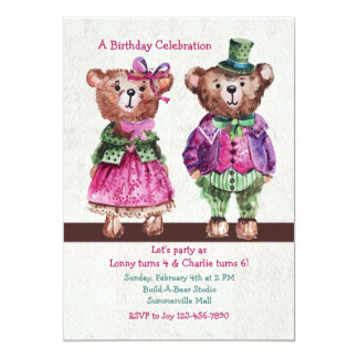 Mr. and Mrs. Bear Invitation