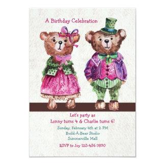 Mr. and Mrs. Bear Invitation
