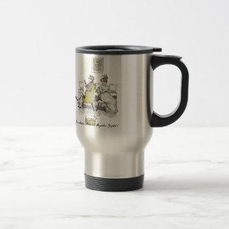 Mr and Mrs Bennet P&P Jane Austen 15 Oz Stainless Steel Travel Mug
