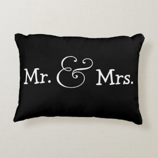 Mr and Mrs Bride And Groom Wedding Gift Decorative Pillow