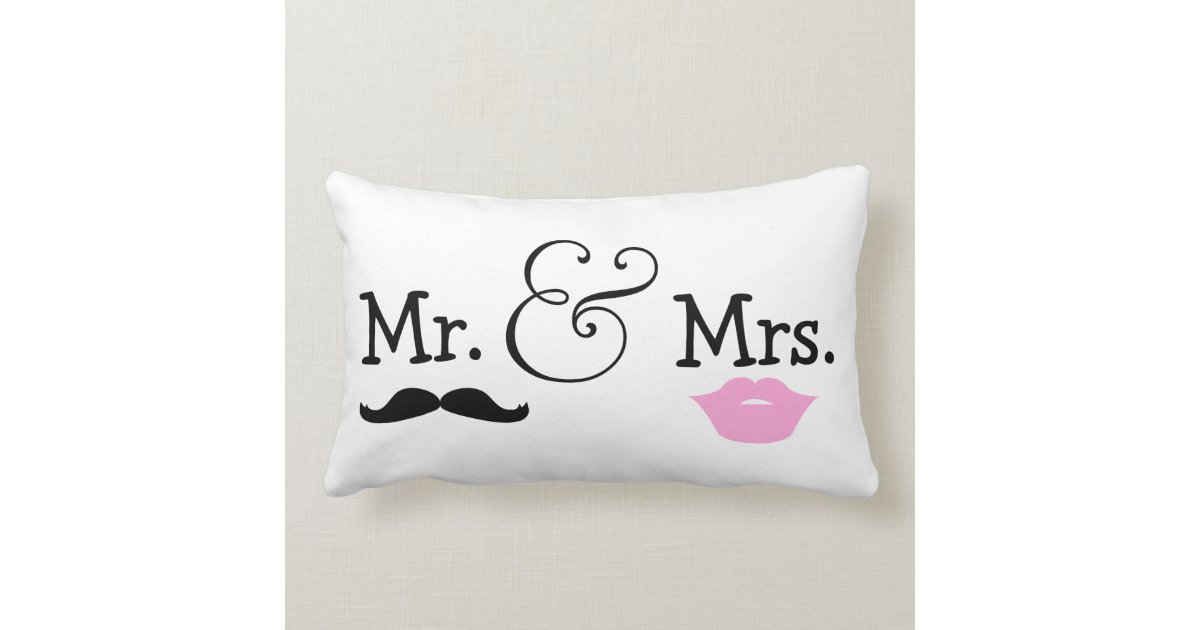 Mr Mrs Wedding Gifts: Mr And Mrs Bride And Groom Wedding Gift Lumbar Pillow