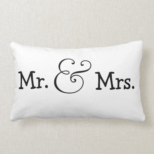 Mr And Mrs Bride And Groom Wedding Gift Throw Pillow