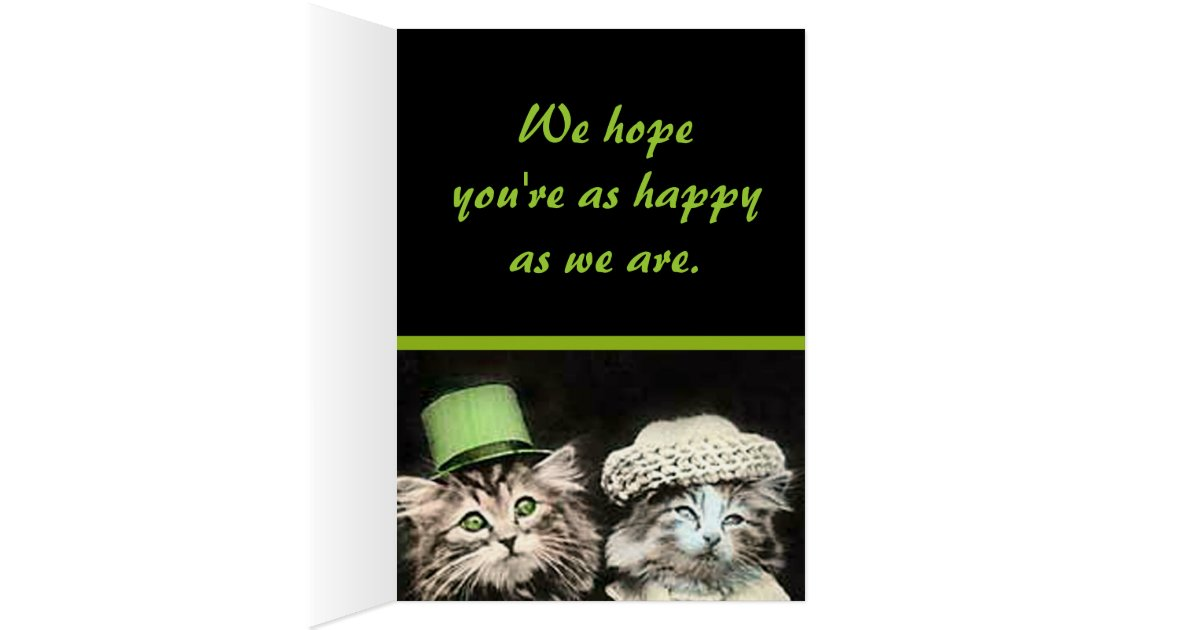 Mr And Mrs Cat Anniversary Card Zazzle