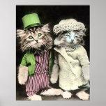 Mr and Mrs Cat Print