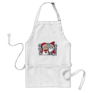Mr. and Mrs. Claus Aprons