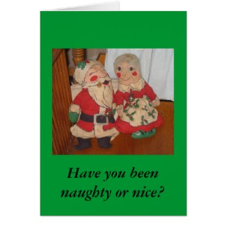 Mr. and Mrs. Claus Christmas Card