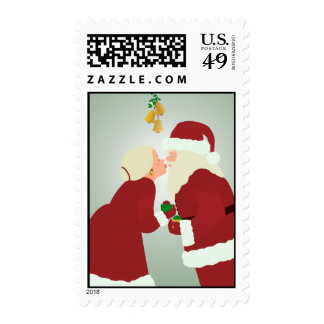MR and MRS Claus stamp