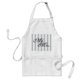 Mr. and Mrs. Click to Customize Color Stripes Adult Apron
