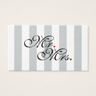 Mr. and Mrs. Click to Customize Color Stripes Business Card