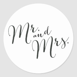 Mr. and Mrs. closure stickers