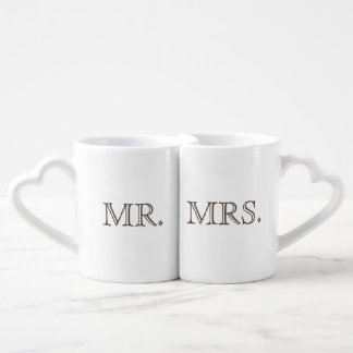 Mr. and Mrs cup set by THATSTICKER